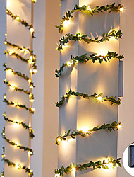 cheap -Outdoor Solar String Light Outdoor Waterproof Solar Leaf 5M 50LEDs Fairy String Lghts Christmas Wedding Garden Patio Decoration LED Solar Garden Light