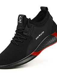 cheap -Work Safety Shoes Steel Toe Cap Men Women FlyKnit Breathable Slip Resistant Trainers Spring Summer