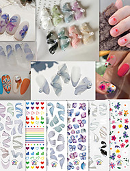 cheap -16 pcs Hollow Nail Stickers Creative nail art Manicure Pedicure Ergonomic Design / Removable / Classic Fashion / Classic Halloween / Party / Evening / Daily