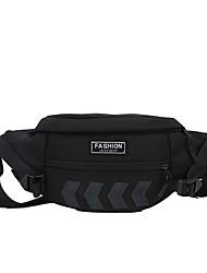 cheap -Unisex Bags Fanny Pack Daily Bum Bag White Black