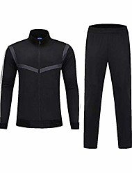 cheap -vlig black long-sleeved football training suit club team competition suit sportswear jacket set m