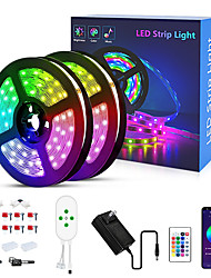 cheap -LED Strip Lights RGB APP Smart Set LED Lights for Bedroom 10M 15M RGB Bluetooth Strip Lights 5050 SMD 24Keys Remote Controller Bluetooth Connector Bedroom New Year Television Decorating