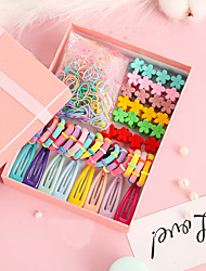 cheap -Kids / Toddler Girls' Version Of Simple Hair Clip Head Rope Gift Box Set Children's Baby Small Flower Clip Hair Accessories