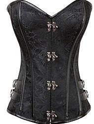 cheap -Women's Not Specified Underbust Corset - Fashion, Buckle Black S M L