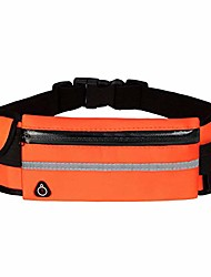 cheap -durable and highly elastic fitness running waist bag fanny pack for men women with three compartments one earphone hole and one water cup placement place orange