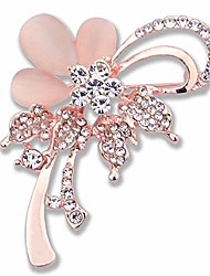 cheap -karlota women crystal colorful wedding brooches pins girls fashion rhinestone safety flower jewelry pins ladies party elegant flower floral bugs broaches &pins (cats eye)
