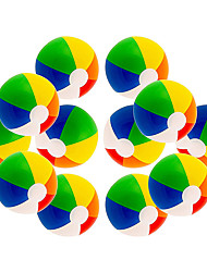 cheap -12 Rainbow Colored Party Pack Inflatable Beach Balls Beach Pool Party Toys (12 Pack)