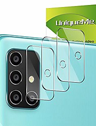 cheap -uniqueme [3 pieces] protective film for samsung galaxy a71 4g / 5g tempered glass camera, [easy installation] tempered glass samsung galaxy a71 screen protector.