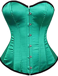 cheap -Women's Lace Up Casual / Daily / Overbust Corset - Solid Color, Cross Golden Green black border Green XXS XS S