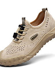 cheap -Men's Trainers Athletic Shoes Crochet Sporty Look Leather Shoes Sporty Casual Beach Daily Outdoor Trail Running Shoes Nappa Leather Cowhide Breathable Handmade Non-slipping Booties / Ankle Boots