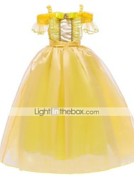cheap -Princess Belle Dress Flower Girl Dress Girls' Movie Cosplay A-Line Slip Vacation Dress Yellow Dress Halloween Children's Day Masquerade Polyester