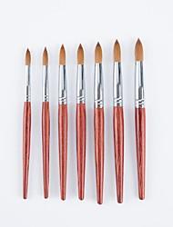 cheap -Mahogany Pole Mink Hair Nail Pen Carved Nail Pen Petal Color Drawing Pen Drawing Pen Set
