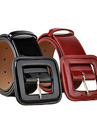 cheap -european style fashion patent leather wide waist, black and red decorative coat leather belt, all-match cowhide belt ladies wholesale