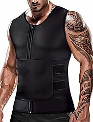 cheap -cimkiz mens sweat sauna vest for waist trainer zipper neoprene tank top, adjustable sauna workout body shape zipper suit (medium)