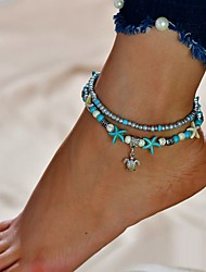cheap -Anklet Vintage Women's Body Jewelry For Beach Festival Alloy Turtle Starfish Silver