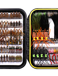 cheap -64/92/120 pcs Fishing Lures Flies Floating Sinking Bass Trout Pike Freshwater and Saltwater Fly Fishing Freshwater Fishing