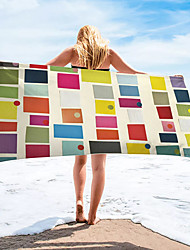 cheap -Multi Purpose Beach Towel,Superfine Fibre Rectangular Colorful Striped Patterned Silk Scarf,Sand Free Towel, for Travel, Camping, Pool, Outdoor or Picnic