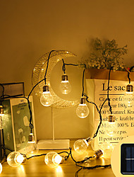cheap -LED Solar Transparent Light Bulb String Lamp for Night Market Stall 8 Functions Light Lawn Party Wedding Decoration Ball String Light 1.5M 3M 5M