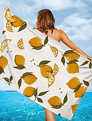 cheap -Multi Purpose Beach Towel,Superfine Fibre Rectangular Colorful Flowers/Leaves Patterned Silk Scarf,Sand Free Towel, for Travel, Camping, Pool, Outdoor or Picnic