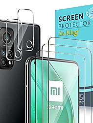 cheap -Phone Screen Protector For Xiaomi Mi 11 Poco X3 NFC Mi 10 Mi 10 Pro Mi 10T Pro 5G Tempered Glass 5 pcs High Definition (HD) Scratch Proof Front & Camera Lens Protector Phone Accessory