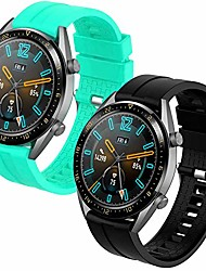 cheap -Smartwatch band bracelet for huawei watch gt 2 / huawei watch gt fashion / sport / active / elegant / classic / gear s3 frontier / galaxy watch 46 mm / s3 classic, 22 mm replacement silicone strap