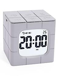 cheap -Mofang Alarm Clock LED Digital Smart Time Manager USB Charging Digital Alarm Clock Electronic Clock Lighting Decoration