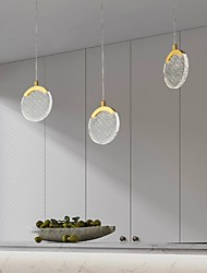 cheap -LED Pendant Light Bedside Light Modern Gold 15cm Copper Nordic Metal Lights Living Room Bedroom Kitchen Dining Room Light Round Acrylic Lampshade Warm White Cool White 4W 320LM