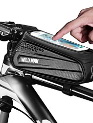 cheap -Cell Phone Bag Bike Handlebar Bag 6.2 inch Cycling for Black Bike / Cycling