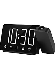 cheap -Projection Alarm Clock LED Display Time Digital Alarm Clock With Rotatable 180 Projector Dual Alarm FM Radio Snooze Function
