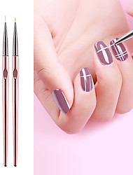 cheap -3pcs Nail Art Drawing Striping Liner Pen Brush DIY Painting Flower Drawing Lines Set Manicure Nails Design aser Champagne Non-slip Pen Professional Home Use