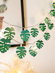 cheap -LED String Light Creative Wrought Iron Leaf Shape Fairy String Lights Battery or USB Operation Wedding Holiday Party Garden Home Decoration