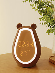 cheap -LED Night Light Bear Nursery Night Light LED Light Alarm Clock Touch Lamp Night Light Touch Sensor Adorable Creative