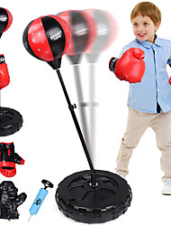cheap -Punching Bag For Kids Boxing Set Punching Bag with Stand Adjustable HeightIncluding 2 Pairs of Gloves Hand Pump Kids Boxing Gloves and Punching Bag for 3-10 Years OldGood Gift for Boys Girls
