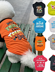 cheap -Dog Cat T-shirts Vest Dog clothes Pumpkin Letter & Number Slogan Princess Casual / Sporty Euramerican Dog Clothes Puppy Clothes Dog Outfits White Black Purple Costume for Girl and Boy Dog Padded