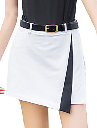 cheap -Women's Golf Outdoor Exercise Skirt Windproof Fast Dry Breathability Sports & Outdoor Summer White Black Red