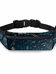 cheap -aluoni blurred night cityscape bouble exposure of futuristic computer digital sports waist pack bag waterproof running belt for men women running hiking travelling bag sw10150