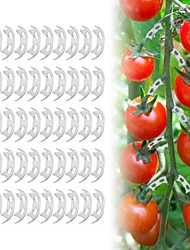 cheap -50pcs/lot Vegetables Tomato Fixing Clips to Prevent Bending Support Clamp Fruit Flower Green Plant Seedling Reinforcement Clips
