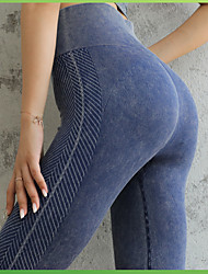 cheap -Women's Yoga Pants Tights Leggings Moisture Wicking Quick Dry Breathable Solid Color Amethyst Black Dark Navy Nylon Yoga Fitness Gym Workout Summer Sports Activewear High Elasticity / Athleisure
