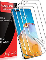 cheap -mascheri protective film for huawei p40 pro protective film, [3 pieces] [tpu film] [no glass] [equipped with a mounting frame] hd soft armor film screen protector film display film tempered glass film