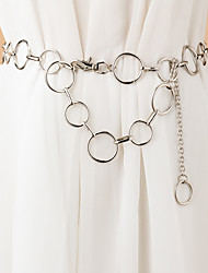 cheap -Women's Chain Traveling Vacation Dress White Belt Solid Colored / Party / Alloy