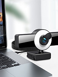 cheap -Webcam 8809 Mini Web Camera For Computer Laptop With Microphone Auto Focus Ring Light Video Webcam 1080P 2K Live Broadcast Web Cam 1K Version