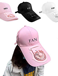 cheap -USB Charging Baseball Cap Golf Hat Adjustable Letter Prinded Hat For Outdoor Camping Travel Summer Sun Hat Cooling Fan Cap