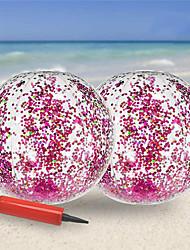 cheap -Inflatable Beach Ball-Glitter Beach Ball 24inch, Confetti Beach Ball Pool Summer Party (2 Pack)