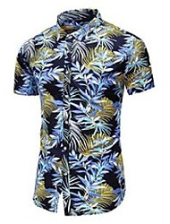 cheap -20 color flower shirt men summer fashion casual hawaii short sleeve printed shirt male brand plus size 5xl 6xl 7xl 210522