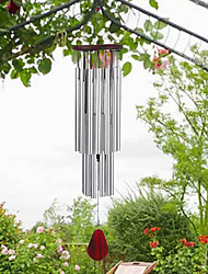 cheap -Pine 27 Tubes Silver Bell Metal Multi-tube Anti-rust Wind Chimes Home Outdoor Ornaments Wind Chimes