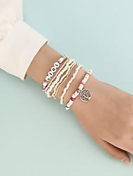 cheap -Bead Bracelet Set 8pcs Stacking Stackable life Tree Boho Acrylic Bracelet Jewelry White For Prom Date Birthday Beach