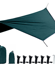 cheap -Hammock Rain Fly Sun Protection Portable Folding Rainproof with Carabiners and Tree Straps for Camping / Hiking Hunting Fishing Climbing Spring Summer Black Dark Green