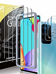 cheap -Phone Screen Protector For Samsung Galaxy Galaxy A32 Galaxy A52 Galaxy A32 5G Galaxy A12 Galaxy A02s Tempered Glass 3 pcs High Definition (HD) Scratch Proof Front Screen Protector Phone Accessory