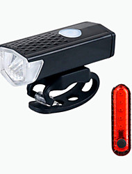 cheap -LED Bike Light LED Light Bike Glow Lights Front Bike Light LED Bicycle Cycling Waterproof Portable USB Charging Output New Design Rechargeable Li-Ion Battery 300 lm Everyday Use Cycling / Bike / ABS