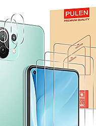 cheap -Phone Screen Protector For Xiaomi Mi 11 Redmi Note 9T Redmi 9T Mi 10T Pro 5G Mi 10T 5G Tempered Glass 5 pcs High Definition (HD) Scratch Proof Front & Camera Lens Protector Phone Accessory